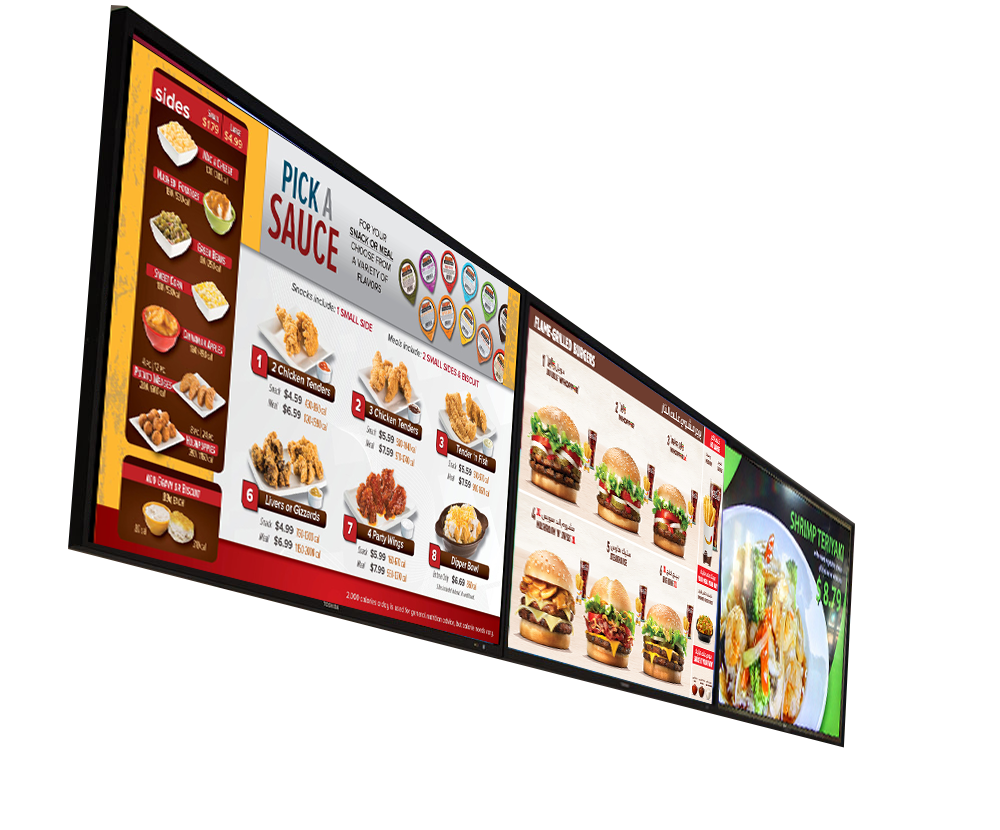 Digital sign, Digital menu para Restaurantes NJ